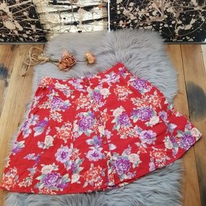Kimchi Blue Urban Outfitters Floral Skirt Medium